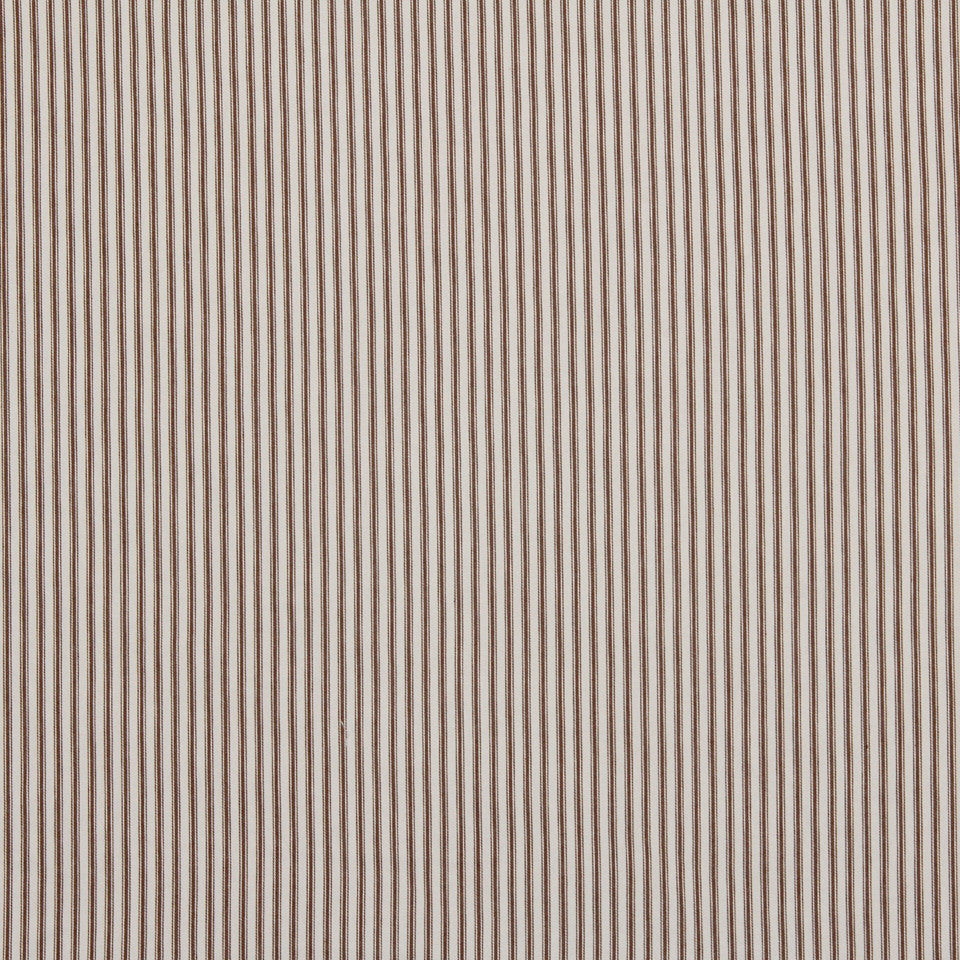 TICKING STRIPES New Ticking Fabric - Chocolate