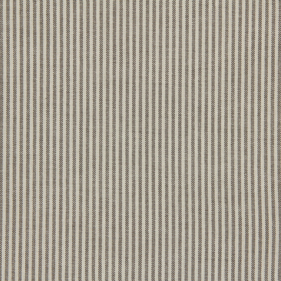 TICKING STRIPES Oxford Unquilt Fabric - Greystone