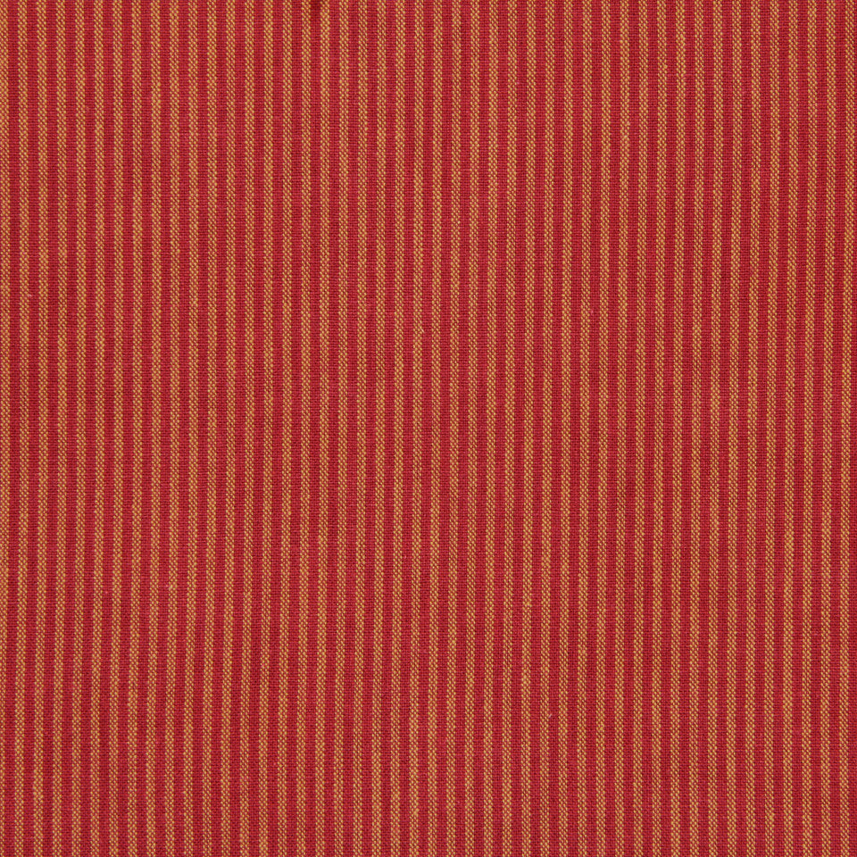 TICKING STRIPES Oxford Unquilt Fabric - Cherry