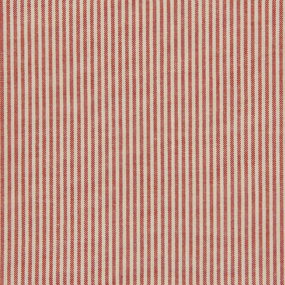TICKING STRIPES Oxford Unquilt Fabric - Tulip