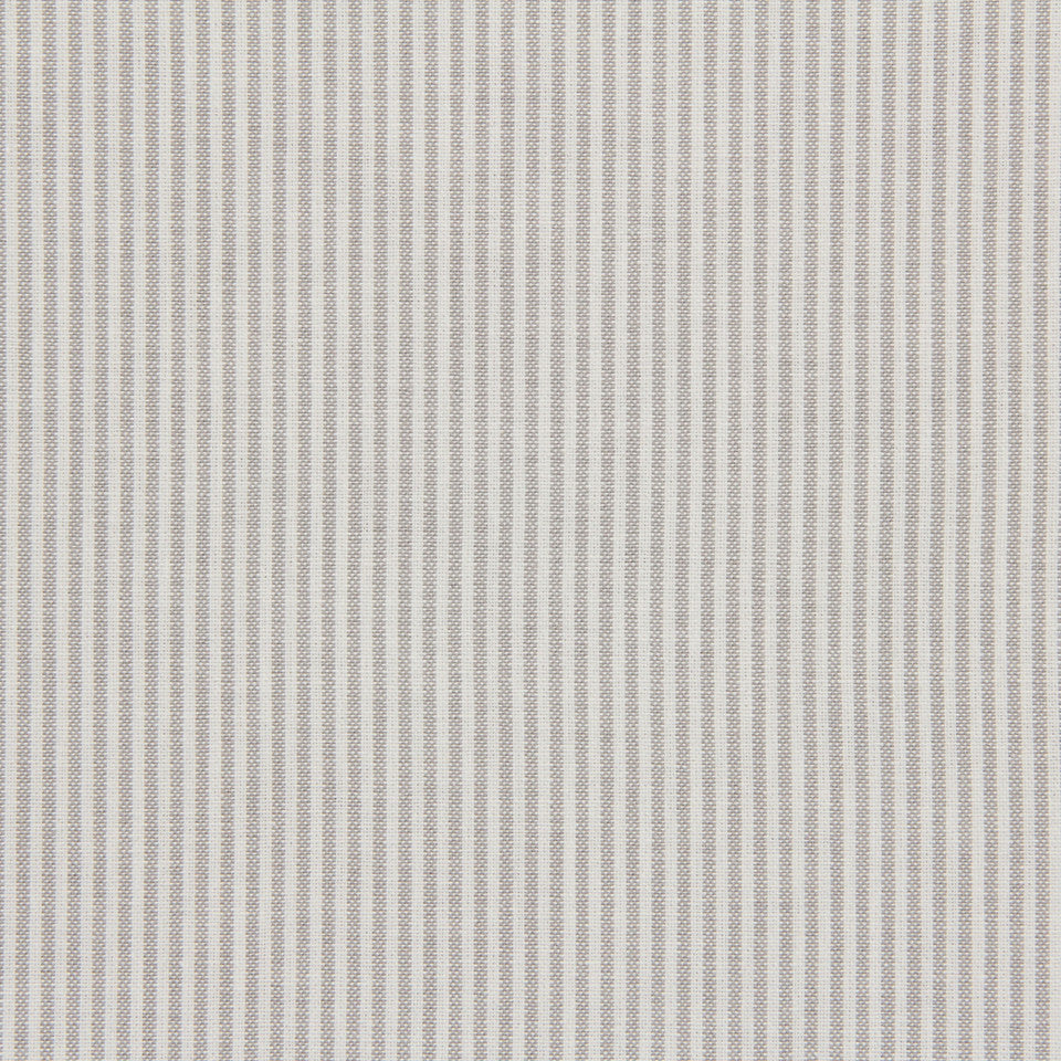 TICKING STRIPES Oxford Unquilt Fabric - Fog