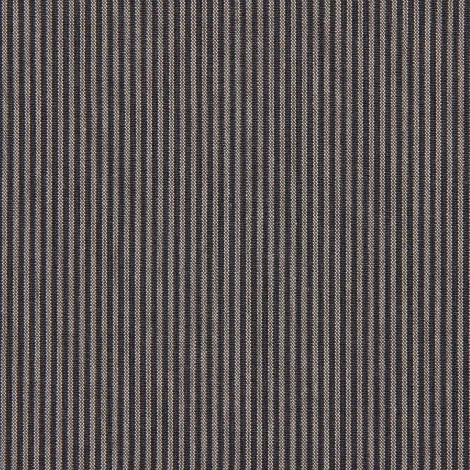 TICKING STRIPES Oxford Unquilt Fabric - Midnight