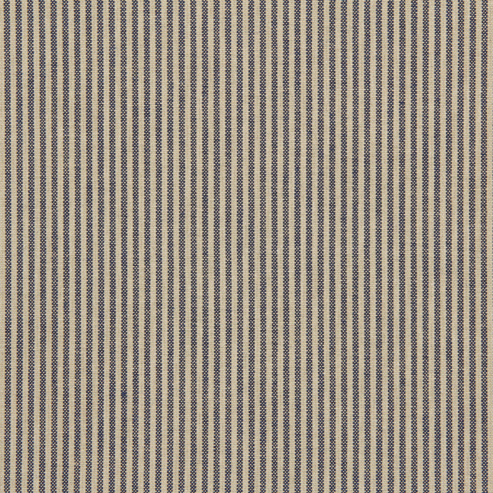 TICKING STRIPES Oxford Unquilt Fabric - Prussian