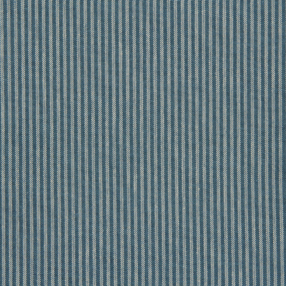 TICKING STRIPES Oxford Unquilt Fabric - Tourmaline