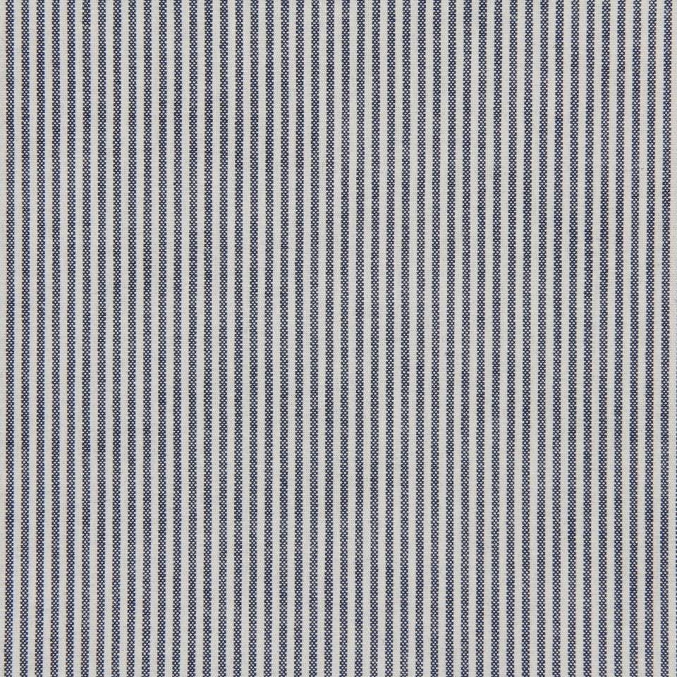 TICKING STRIPES Oxford Unquilt Fabric - Navy