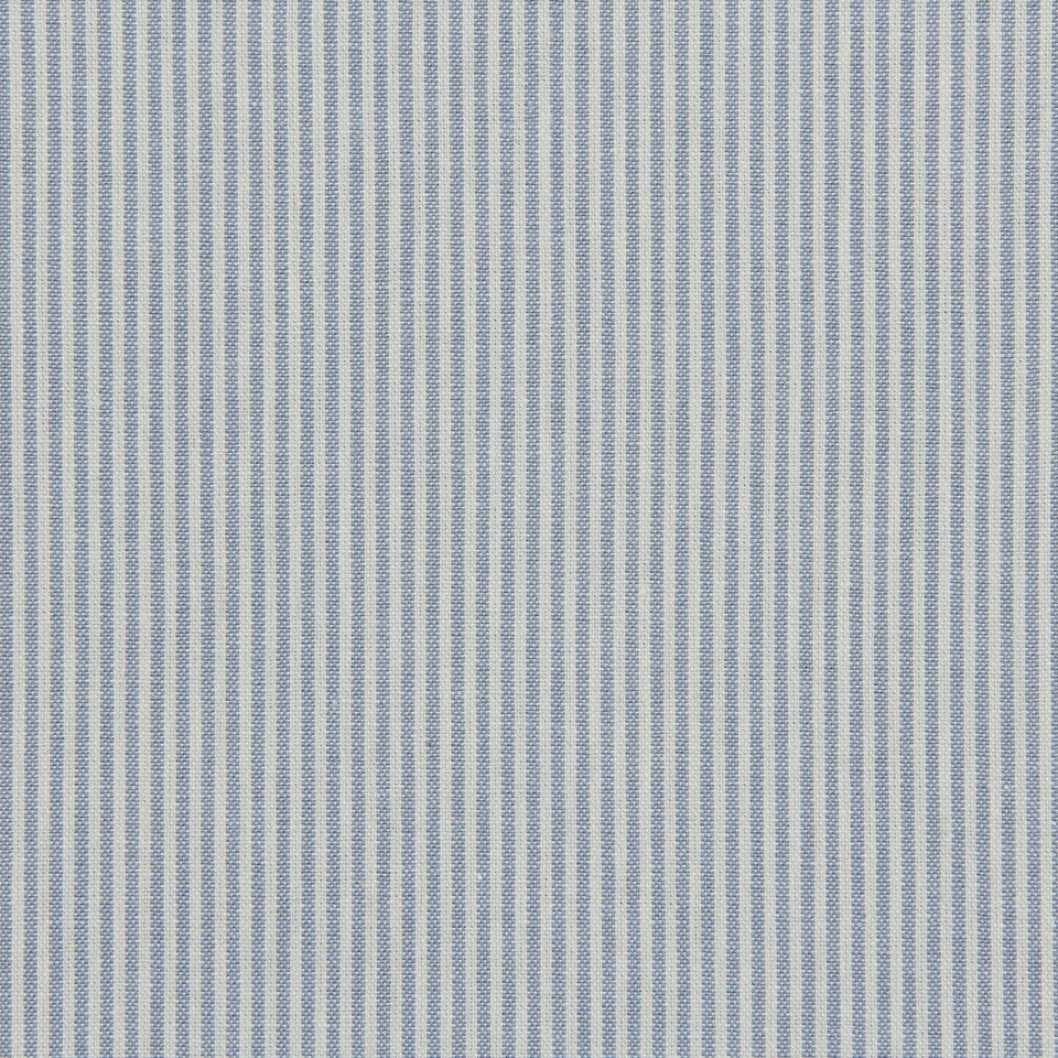TICKING STRIPES Oxford Unquilt Fabric - Chambray