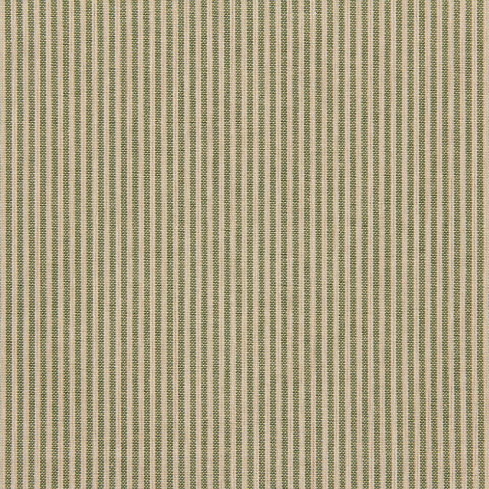 TICKING STRIPES Oxford Unquilt Fabric - Marsh