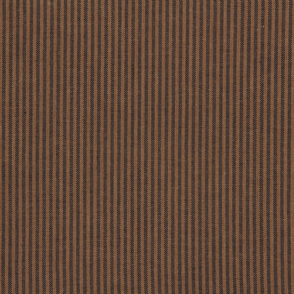 TICKING STRIPES Oxford Unquilt Fabric - Coffee