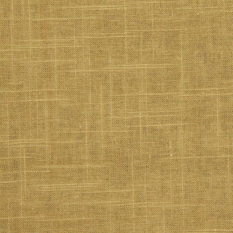 GOLDEN-MAIZE-HONEYSUCKLE Linen Slub Fabric - Amber