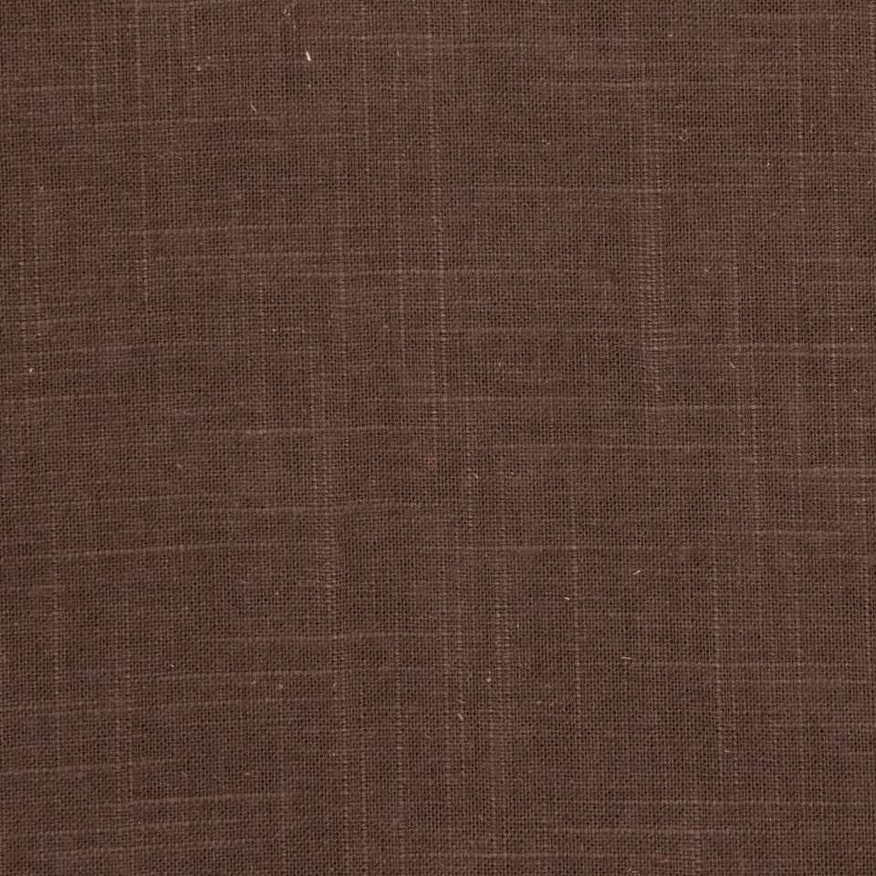 Linen Slub Fabric - Chocolate