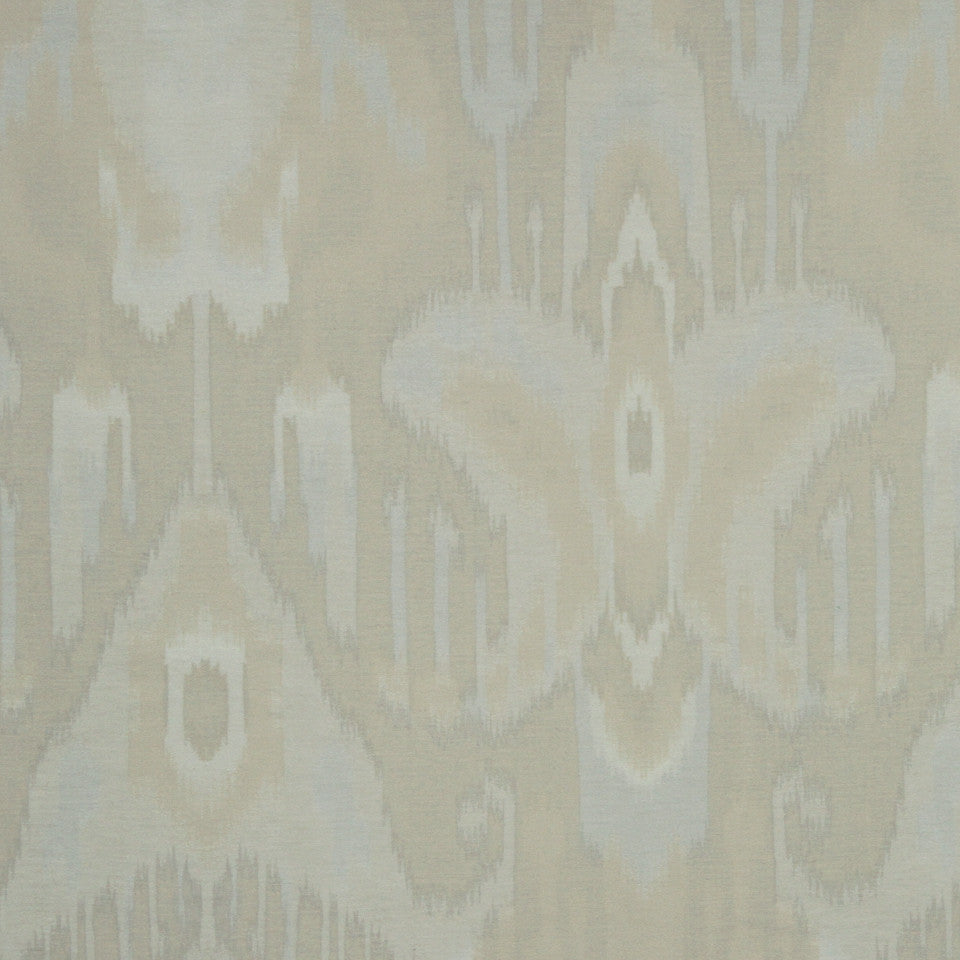 SILVER Brushed Ikat Fabric - Silver