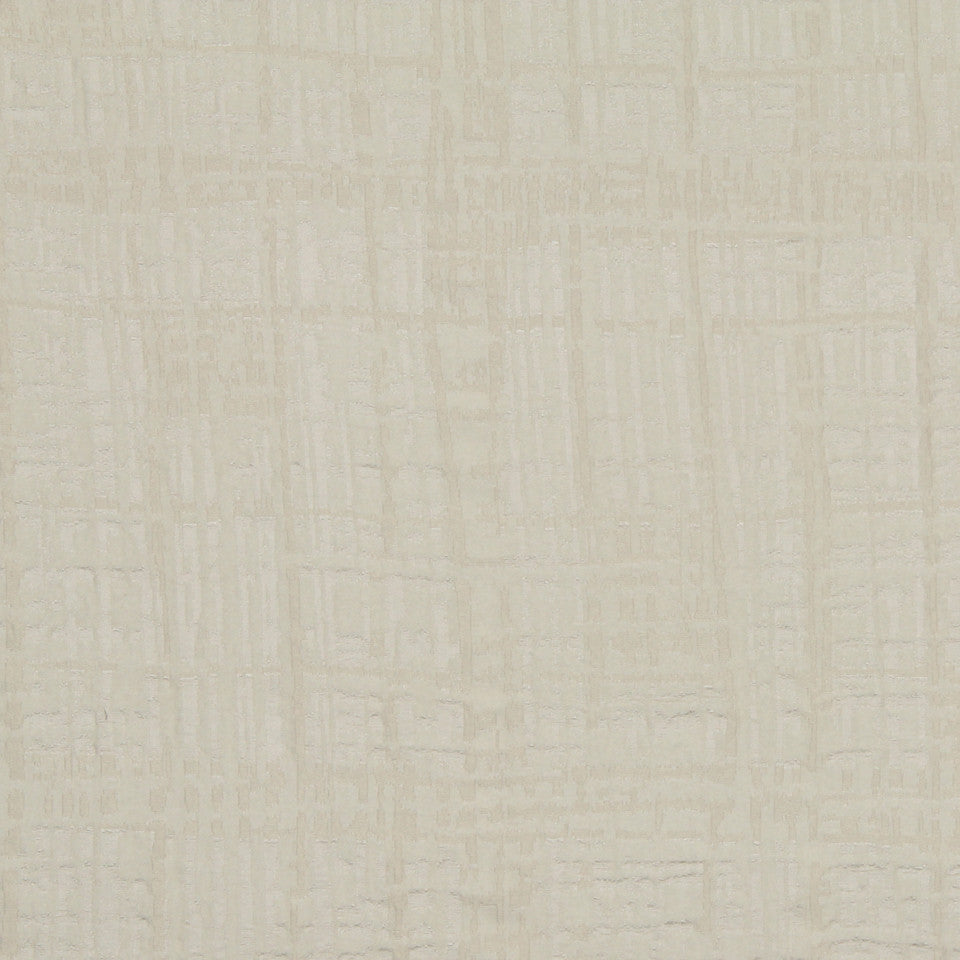 MODERN SILK II Gallery Plaid Fabric - Ivory