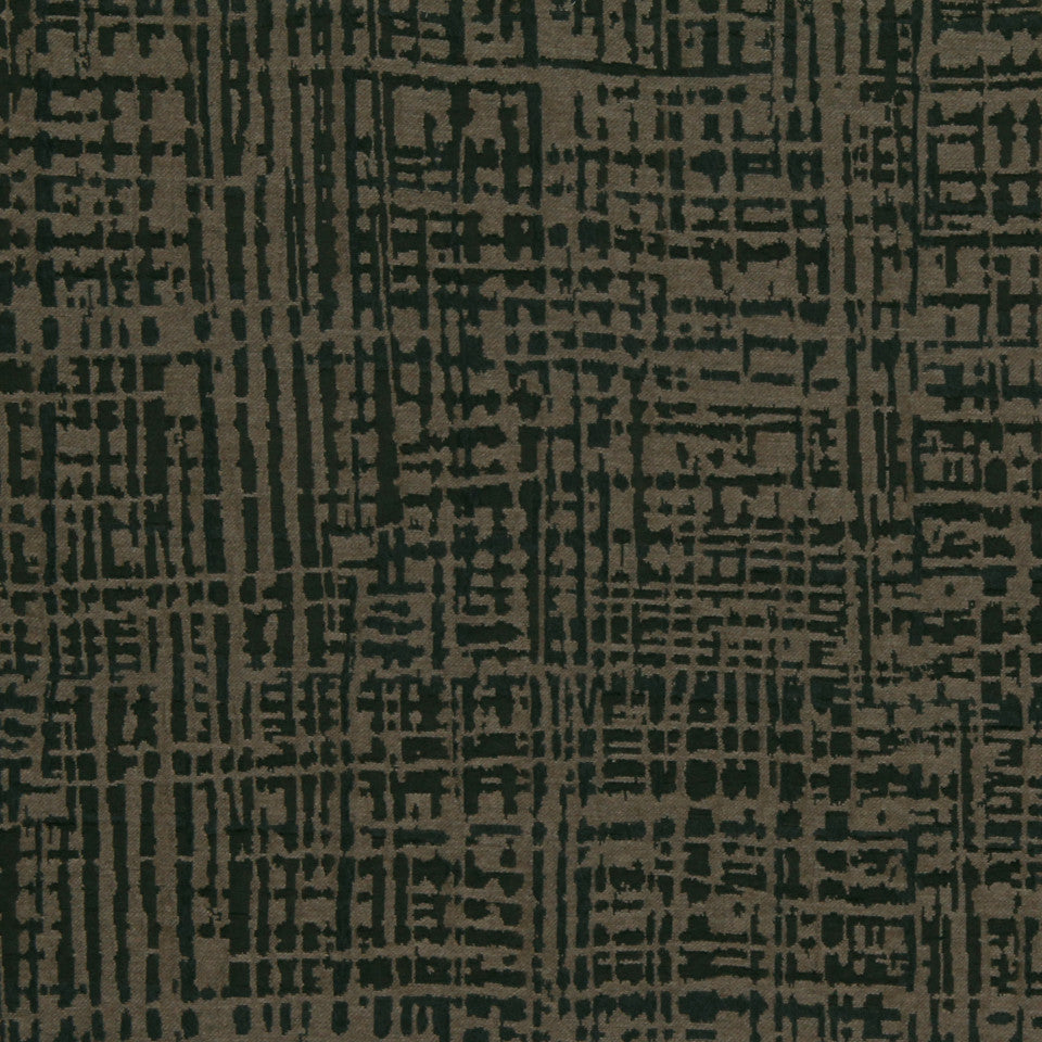 MODERN SILK II Gallery Plaid Fabric - Walnut