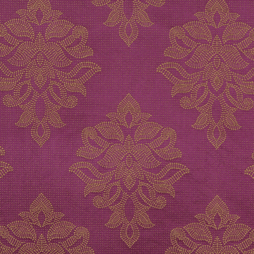 MODERN SILK I Sea Rose Fabric - Magenta
