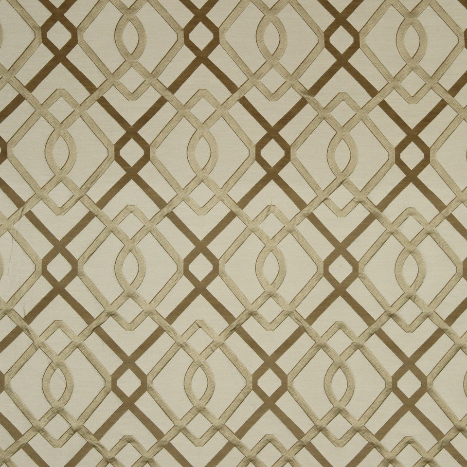 SILK JACQUARDS & EMBROIDERIES III Wrought Work Fabric - Ivory