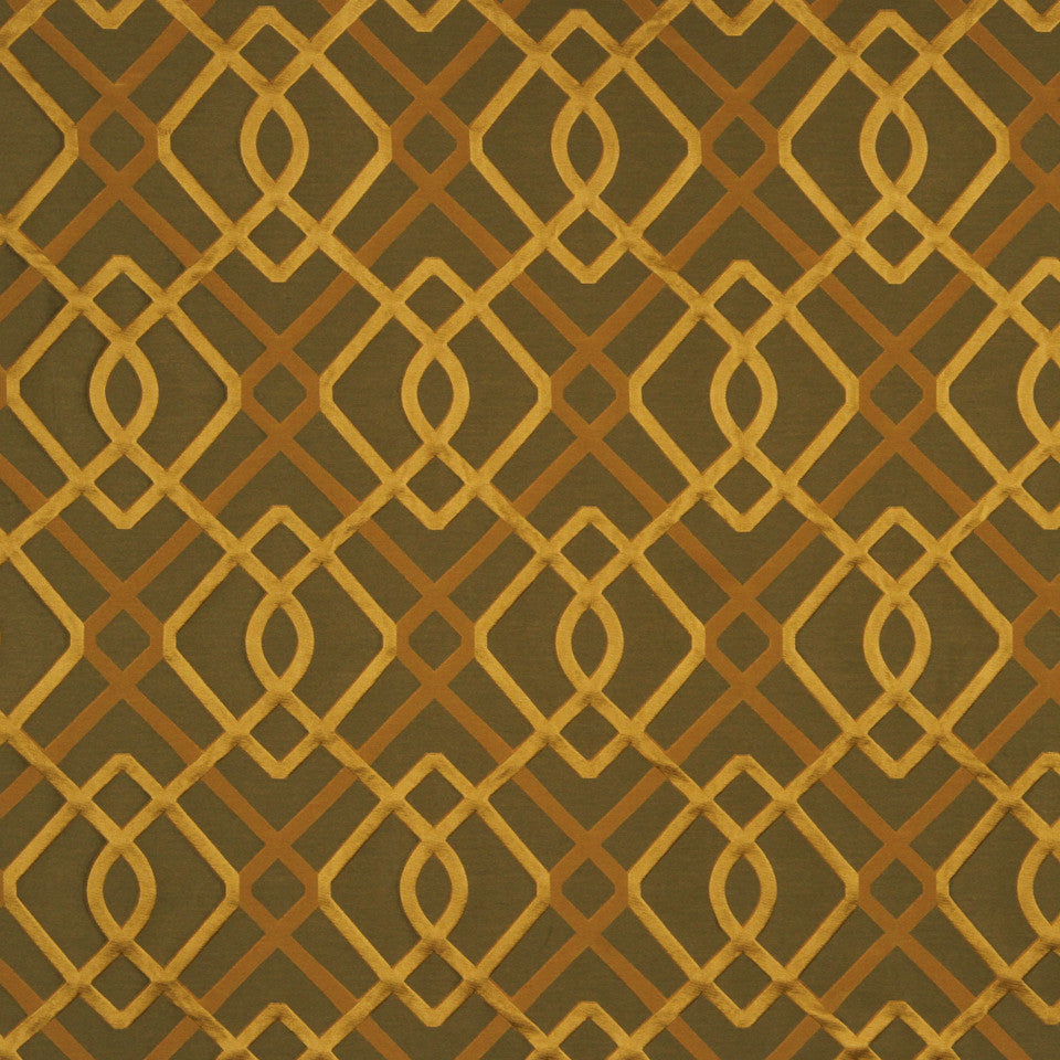 MODERN SILK I Wrought Work Fabric - Topaz