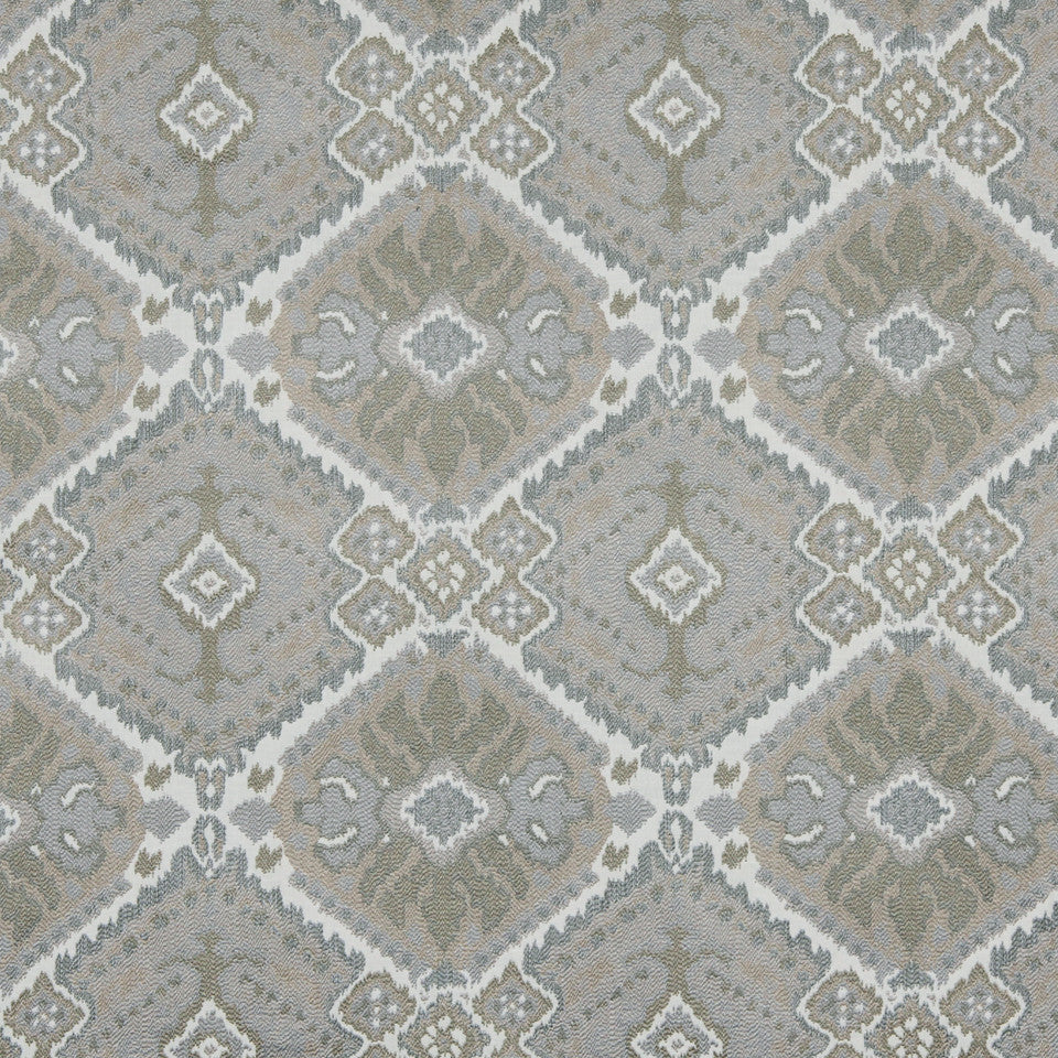 MOONSTONE Tali Ikat Fabric - Moonstone