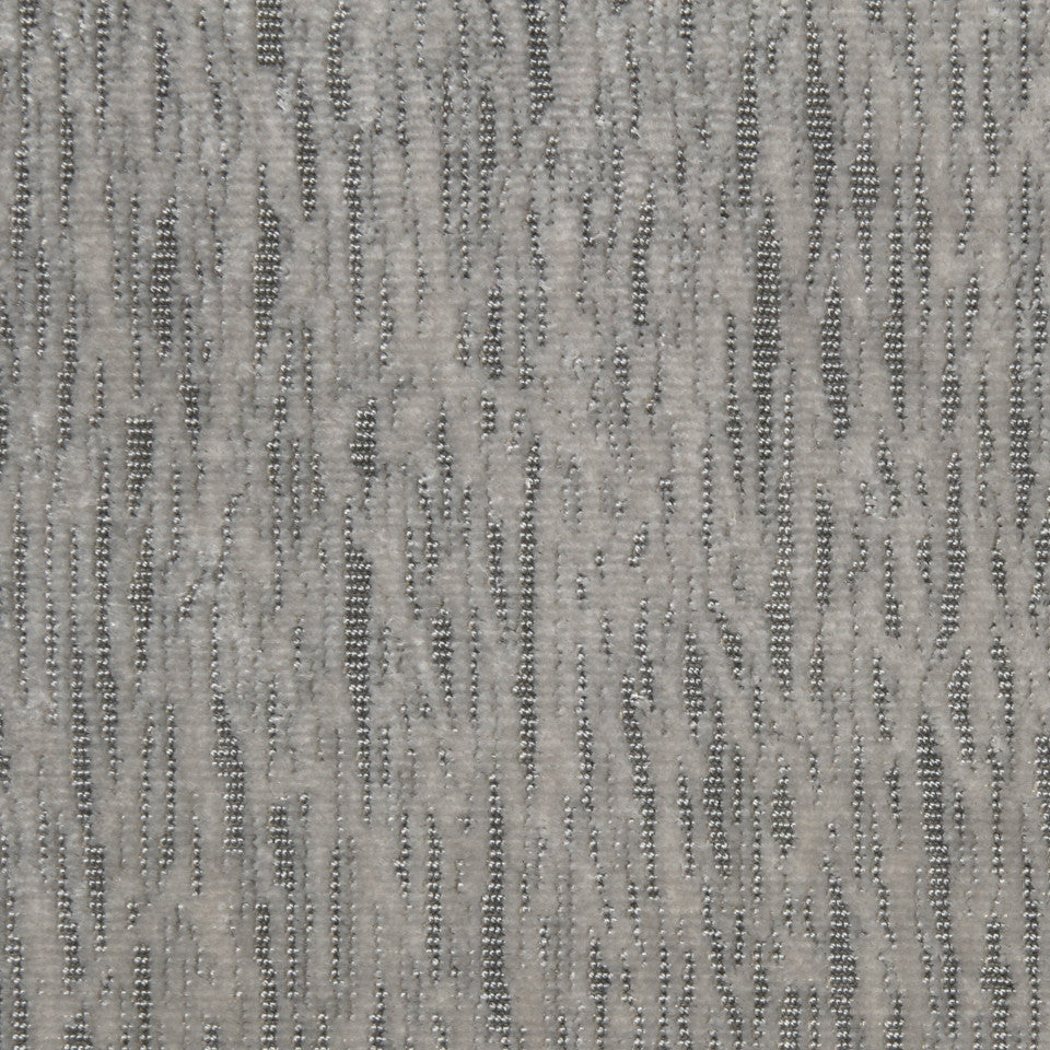 SILVER Graphic Grid Fabric - Silver