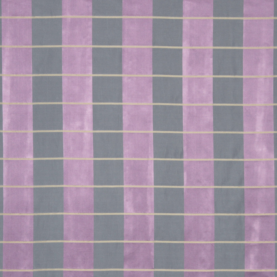 MODERN SILK I Palette Plaid Fabric - Violet
