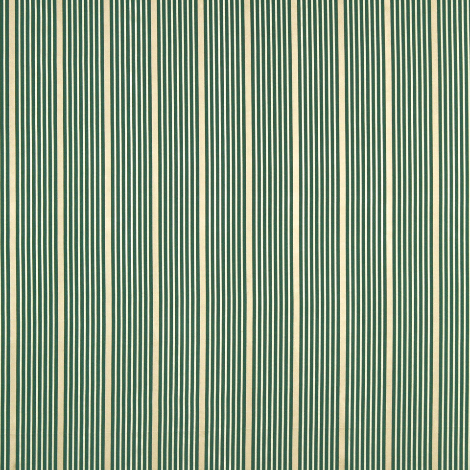 MODERN SILK I Kelly Stripe Fabric - Dark Aqua
