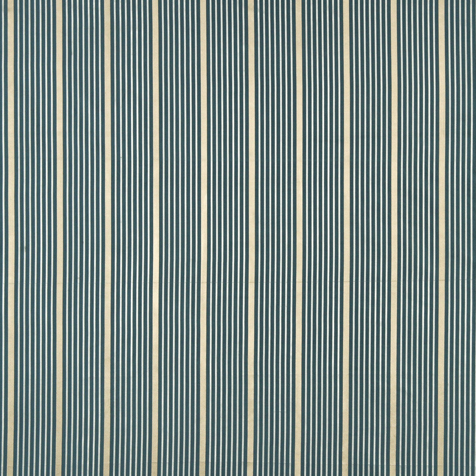 MODERN SILK II Kelly Stripe Fabric - Marine