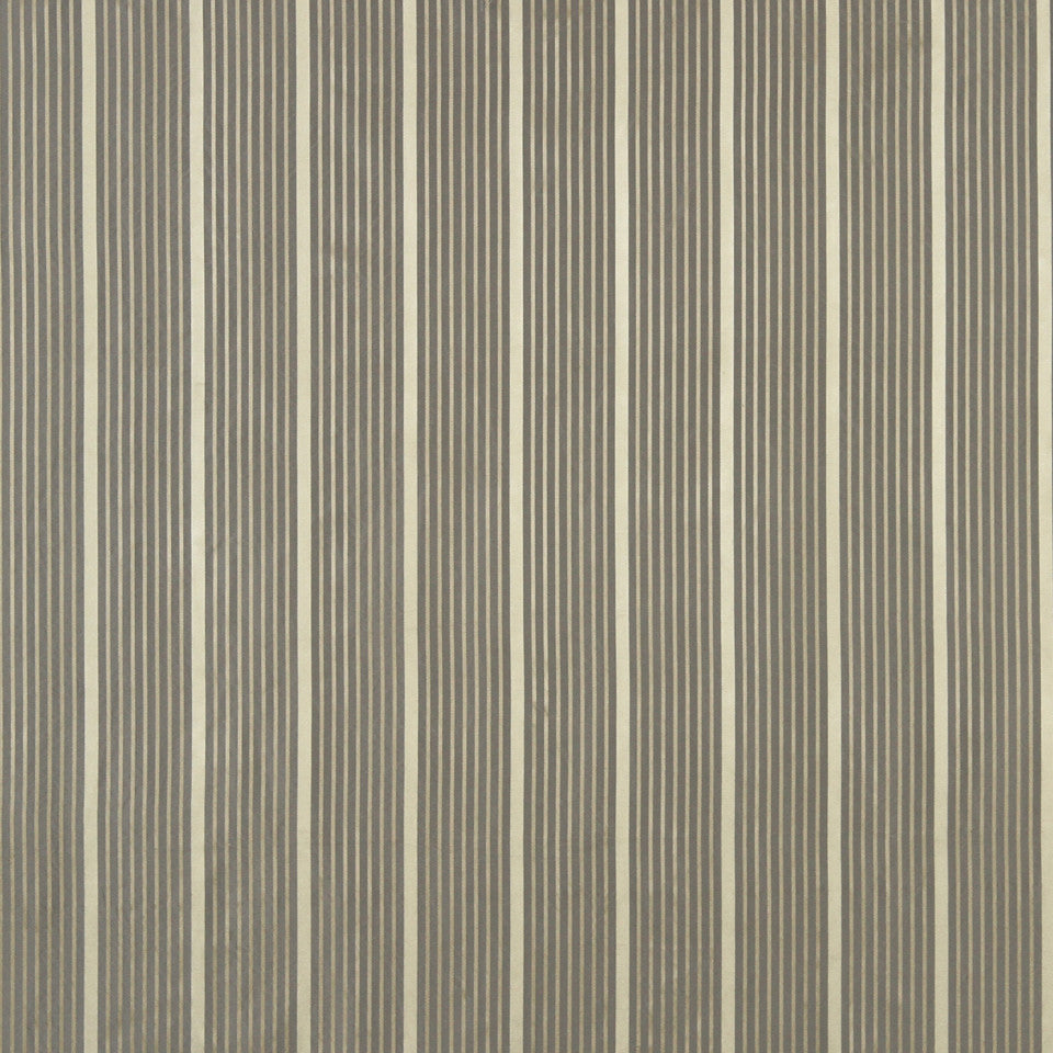 MODERN SILK II Kelly Stripe Fabric - Silver Gold