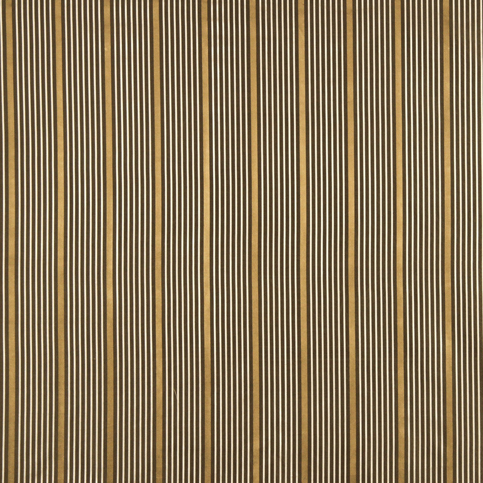 MODERN SILK II Kelly Stripe Fabric - Umber