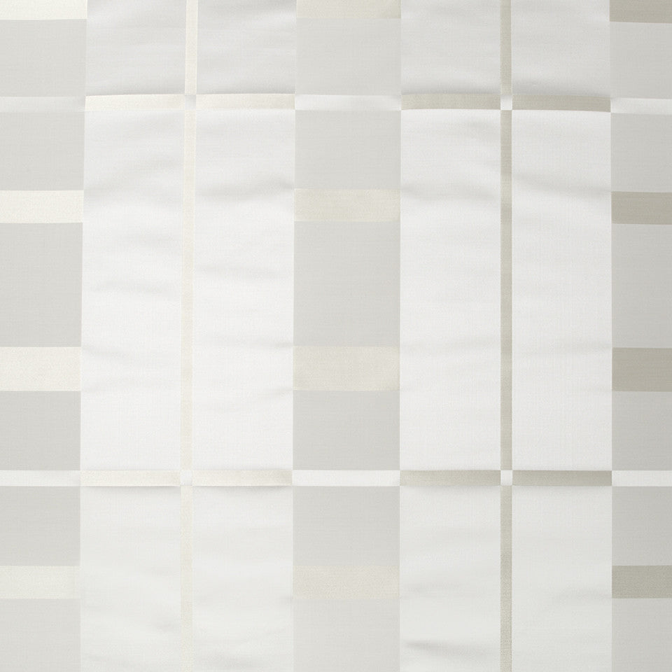 SILK STRIPES & PLAIDS Studio Plaid Fabric - Silver