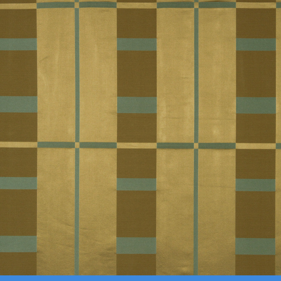 MODERN SILK I Studio Plaid Fabric - Warm Gold