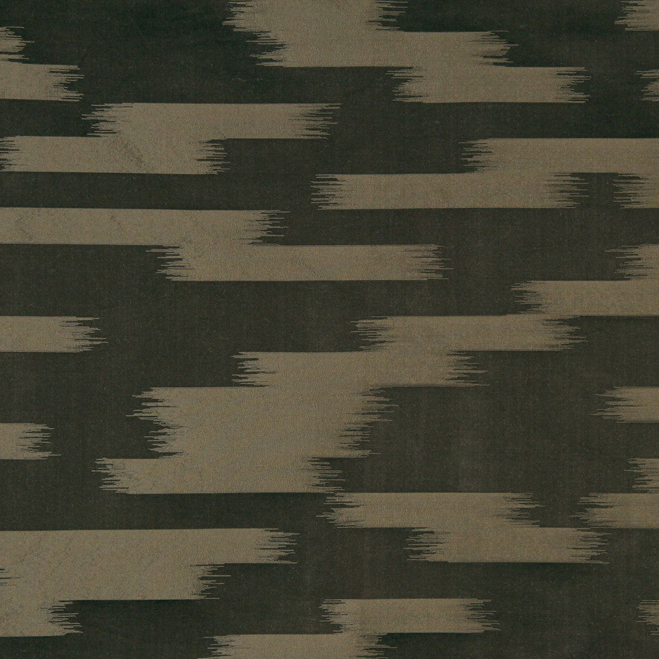 MODERN SILK II Stills Stripe Fabric - Walnut