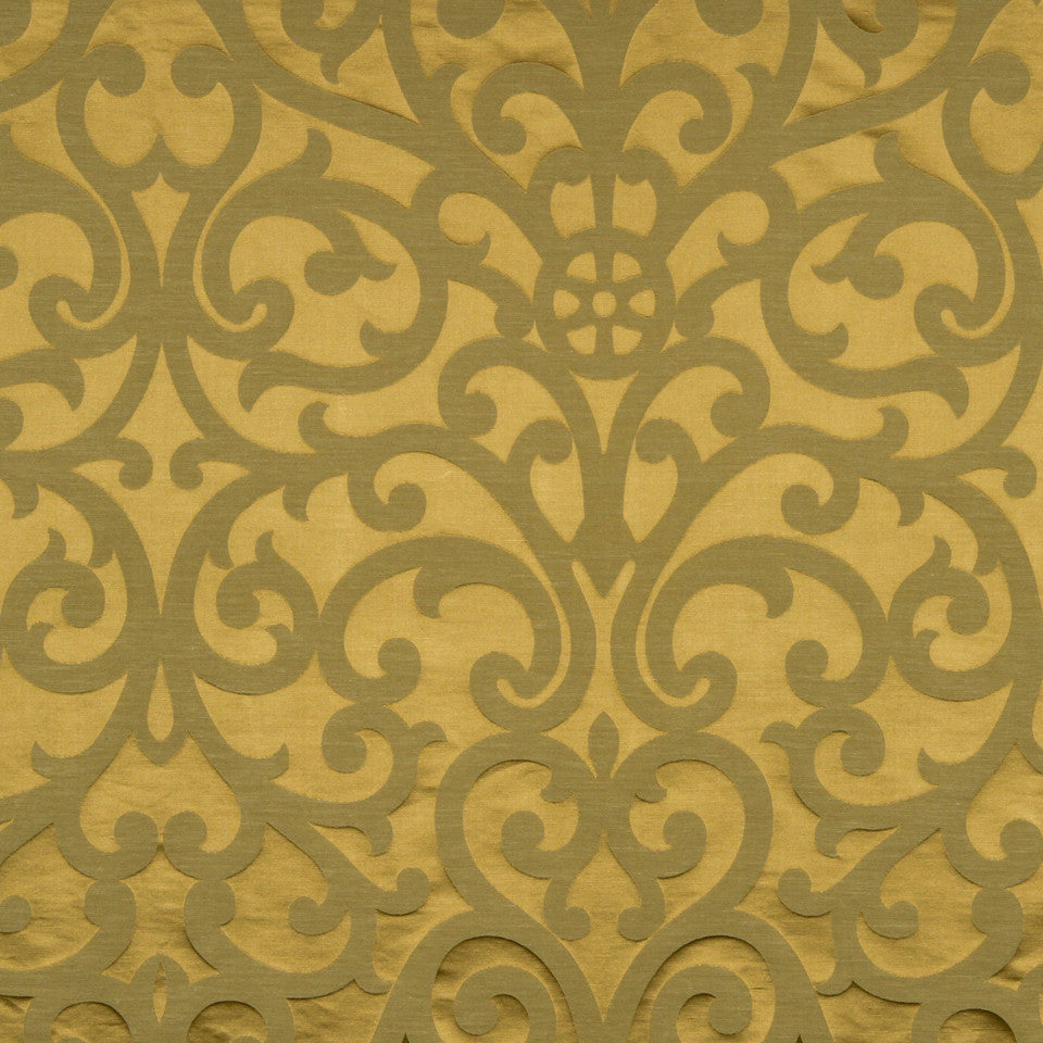 MODERN SILK I Exhibition Fabric - Warm Gold