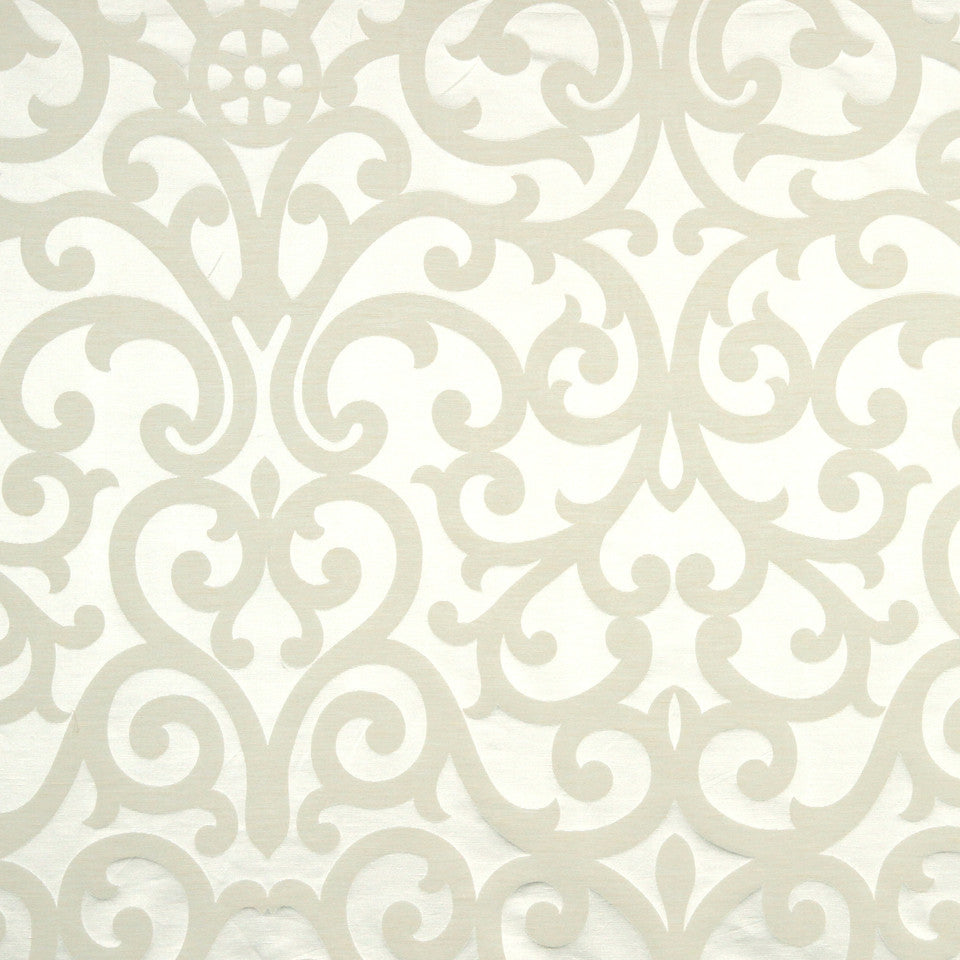 MODERN SILK II Exhibition Fabric - White