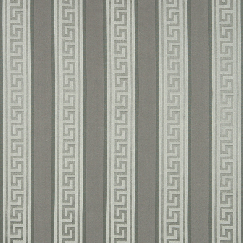 MODERN SILK II Meander Stripe Fabric - Pewter