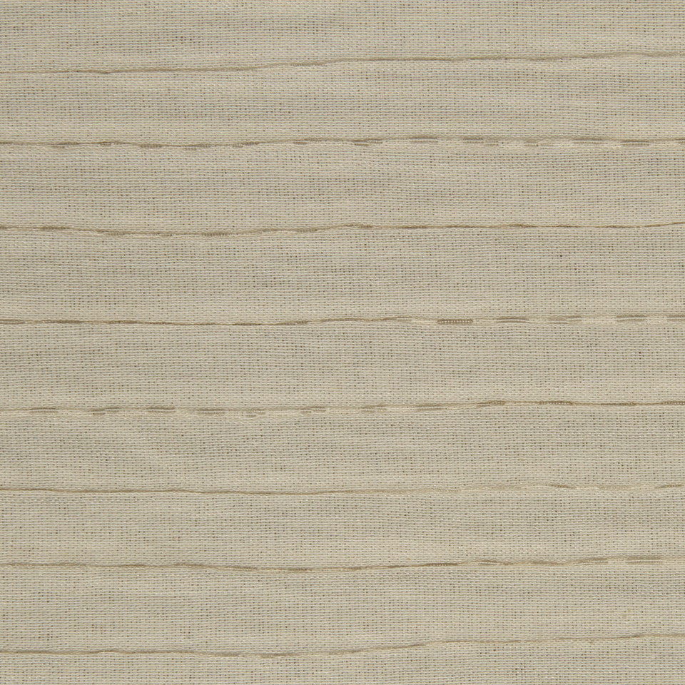 MATELASSES AND QUILTS Tubular Wave Fabric - Driftwood