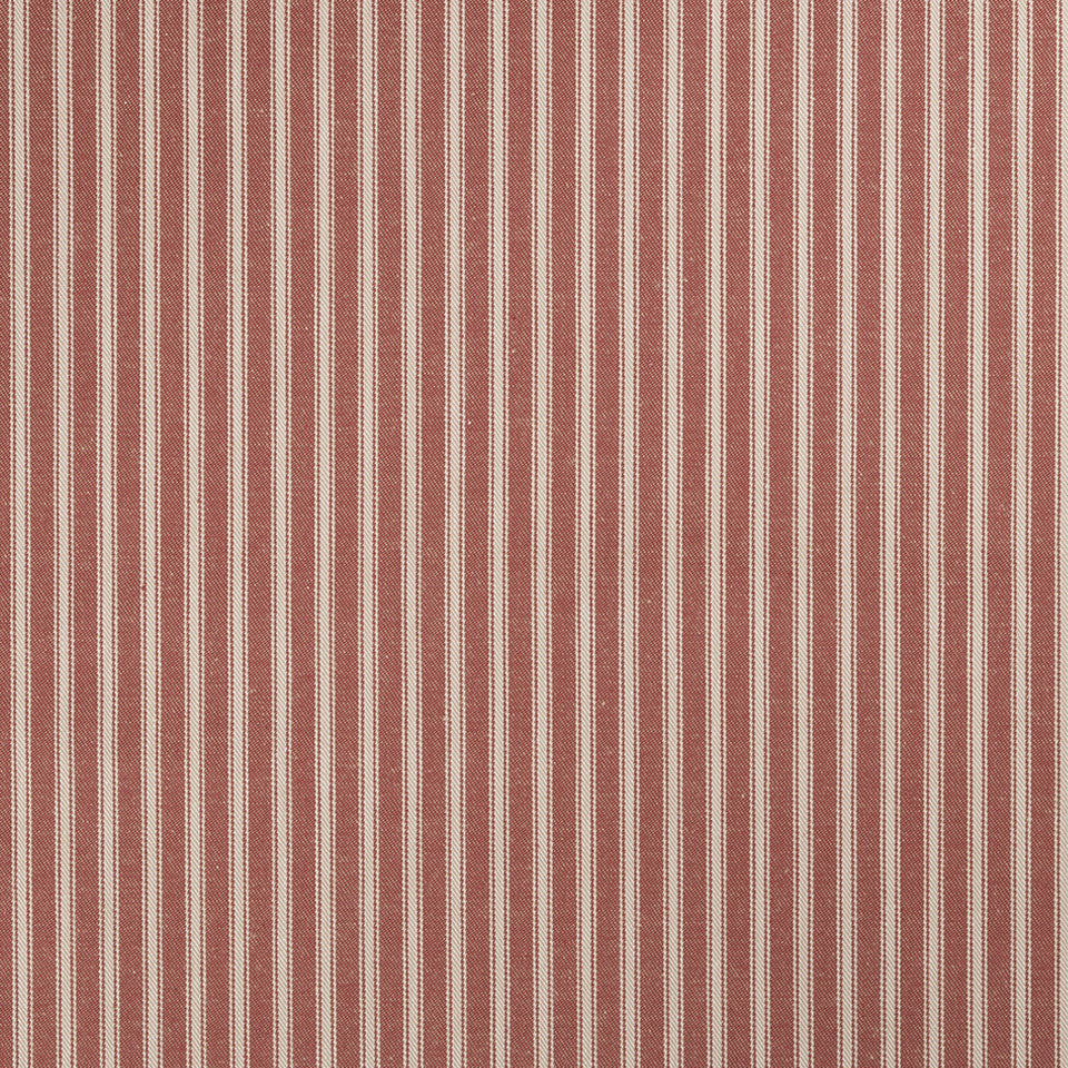 COLOR LIBRARY MULTI-PURPOSE: CHOCOLATE-LEMONGRASS-PEONY Cottage Stripe Fabric - Sorbet