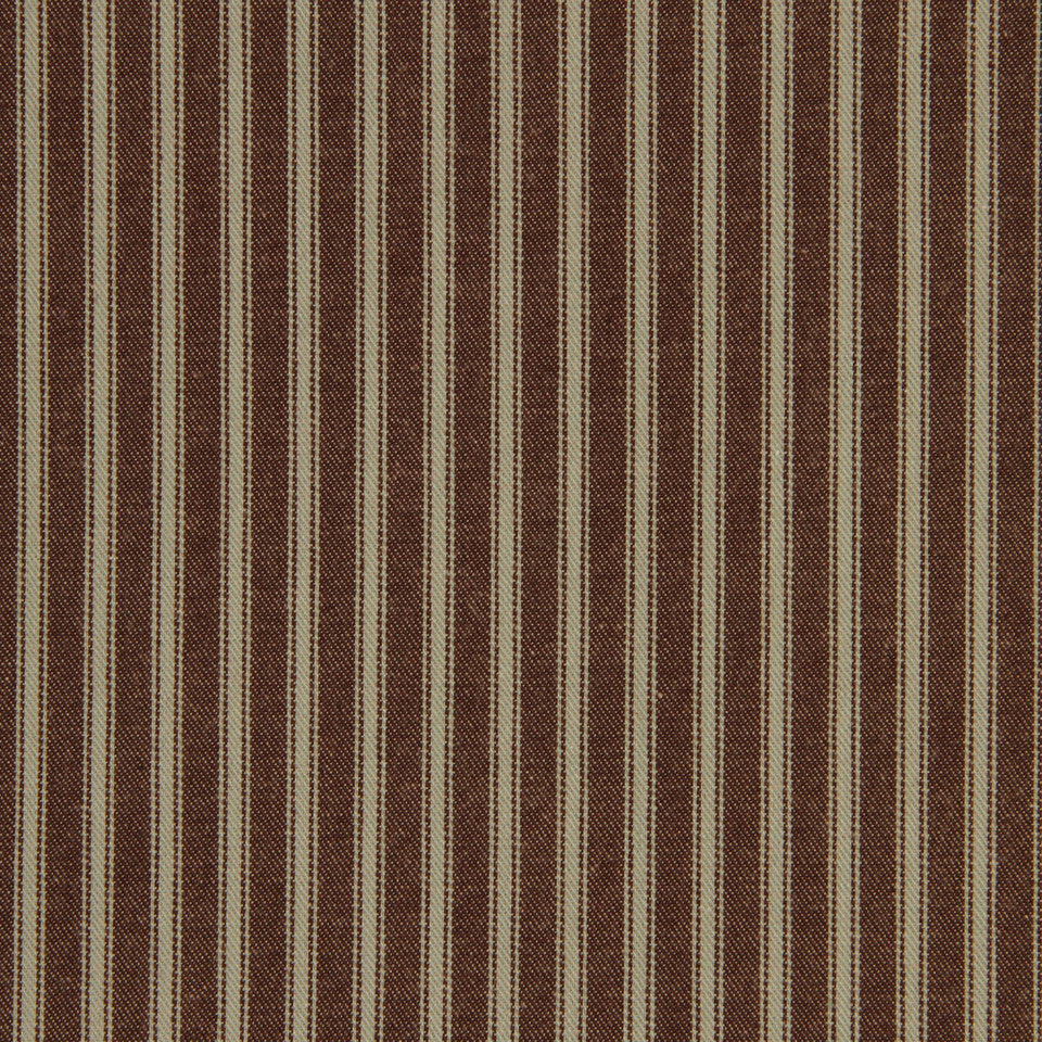 TICKING STRIPES Cottage Stripe Fabric - Mint Chocolate