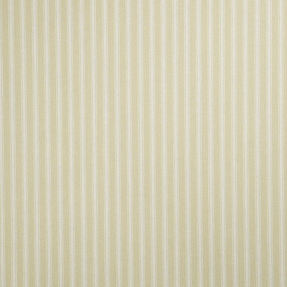 COLOR LIBRARY MULTI-PURPOSE: CHOCOLATE-LEMONGRASS-PEONY Cottage Stripe Fabric - Custard