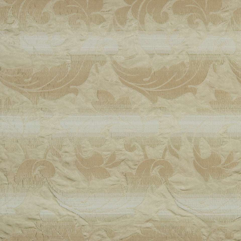 MULTI PURPOSE ECLECTIC MULTI-USE FABRICS Satin Scroll Fabric - Buff