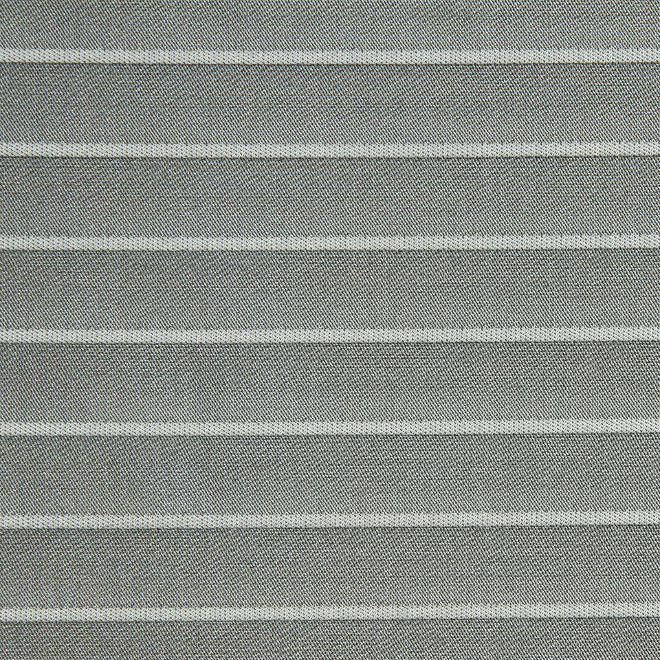 MULTI PURPOSE ECLECTIC MULTI-USE FABRICS Pleated Stripe Fabric - Sterling