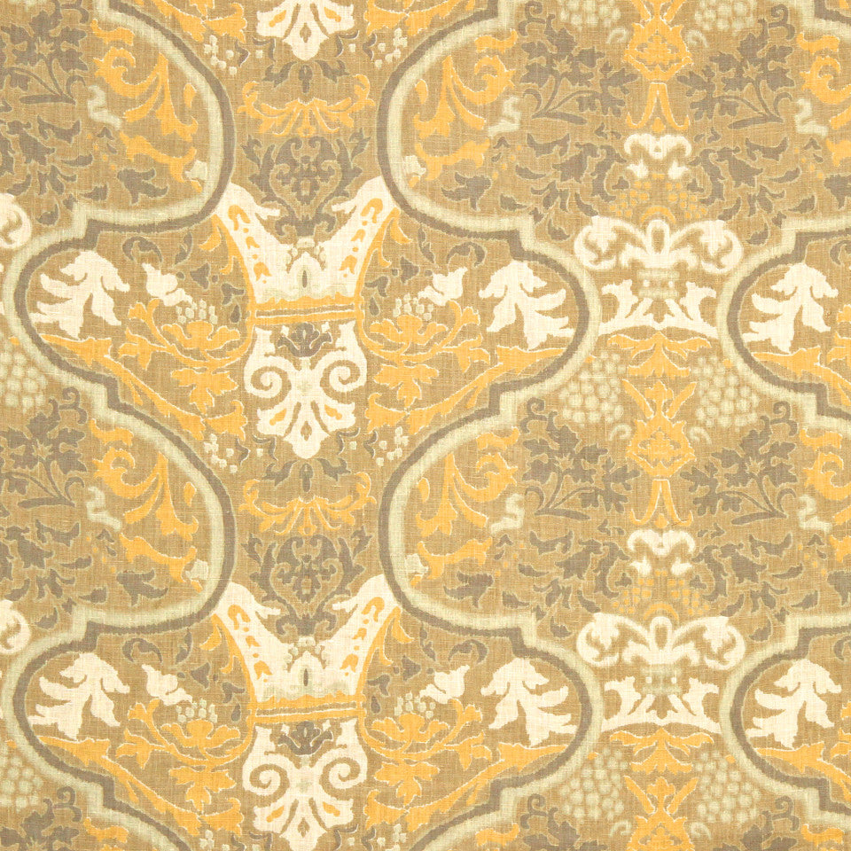 GRAIN-COBBLESTONE-SEA Orchard Bay Fabric - Meadow