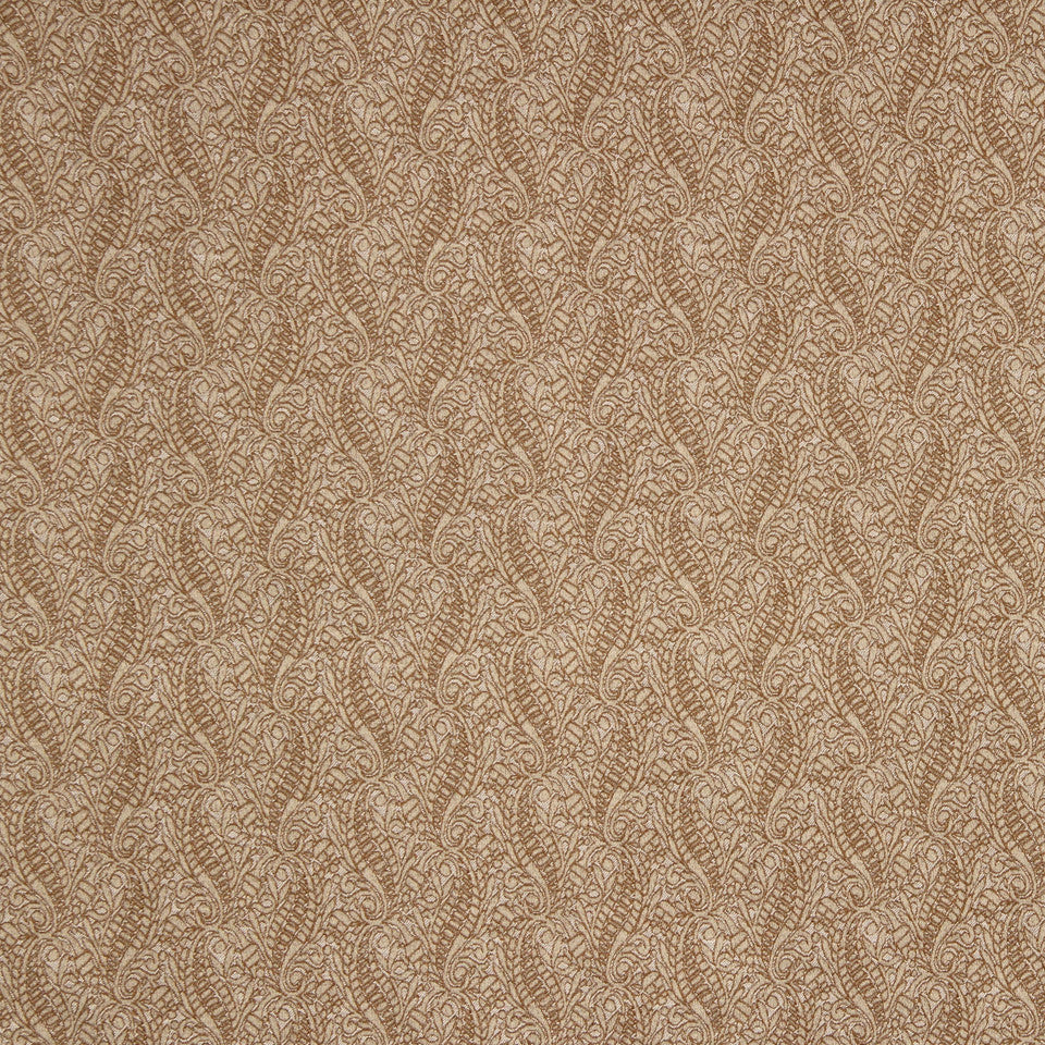 PUMICE-WHITEWASH-FLAX Curvy Leaf Fabric - Barley
