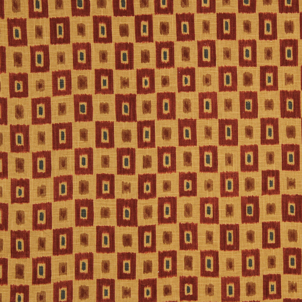 GOLDEN-MAIZE-HONEYSUCKLE Chinati Fabric - Fireside