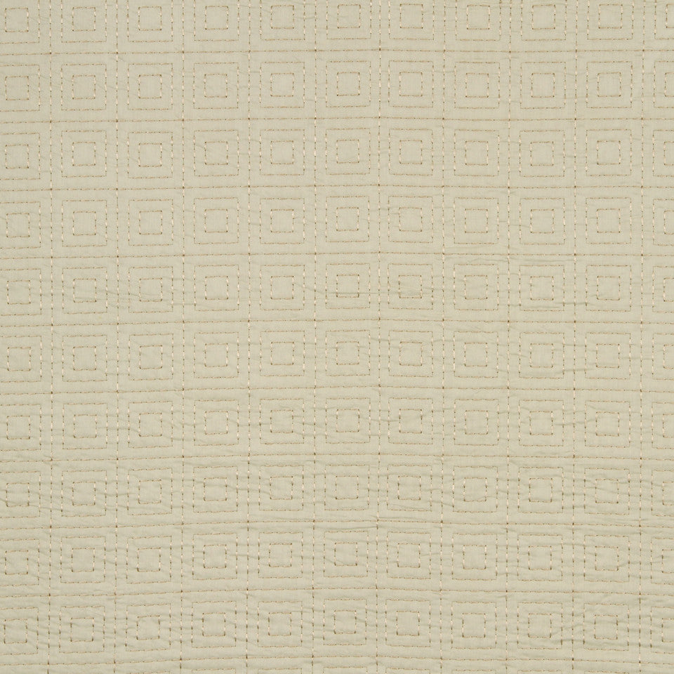 MATELASSES AND QUILTS Trio Blocks Fabric - Champagne