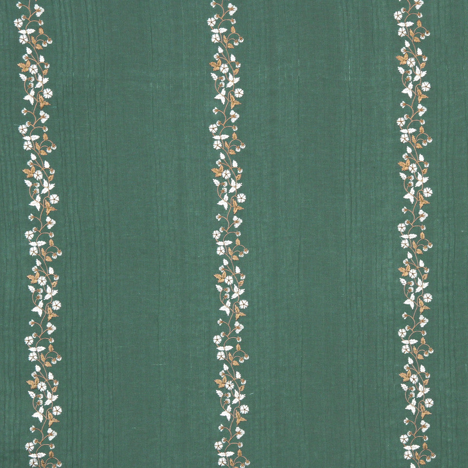 GRAIN-COBBLESTONE-SEA Fresh Flowers Fabric - Jade