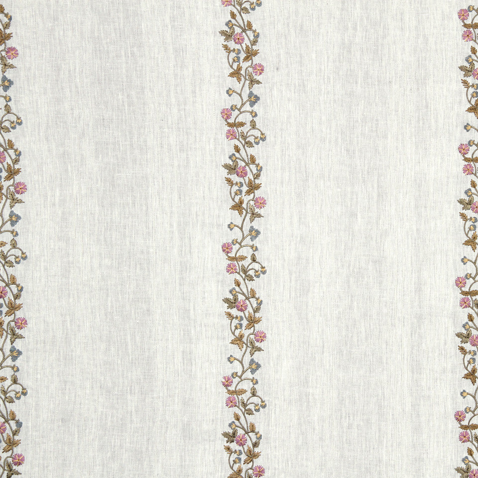 PUMICE-WHITEWASH-FLAX Fresh Flowers Fabric - Opal