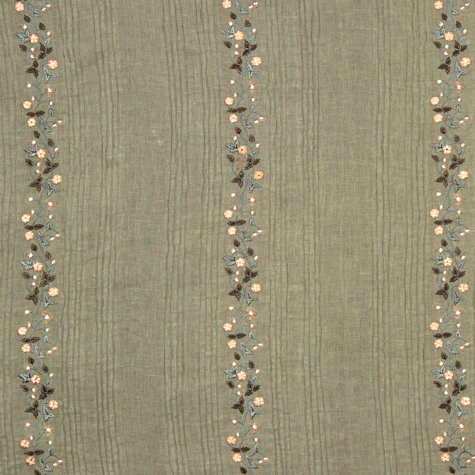 GRAIN-COBBLESTONE-SEA Fresh Flowers Fabric - Mineral