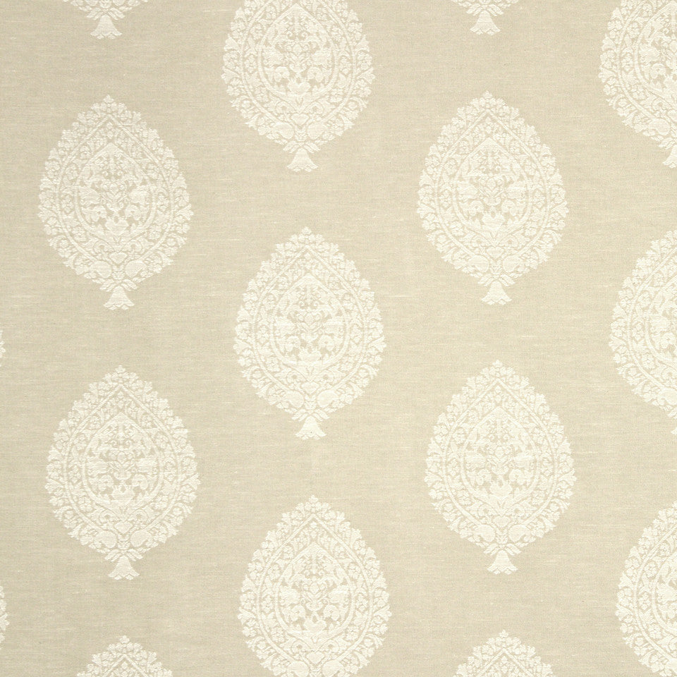 PUMICE-WHITEWASH-FLAX Asherton Fabric - Linen
