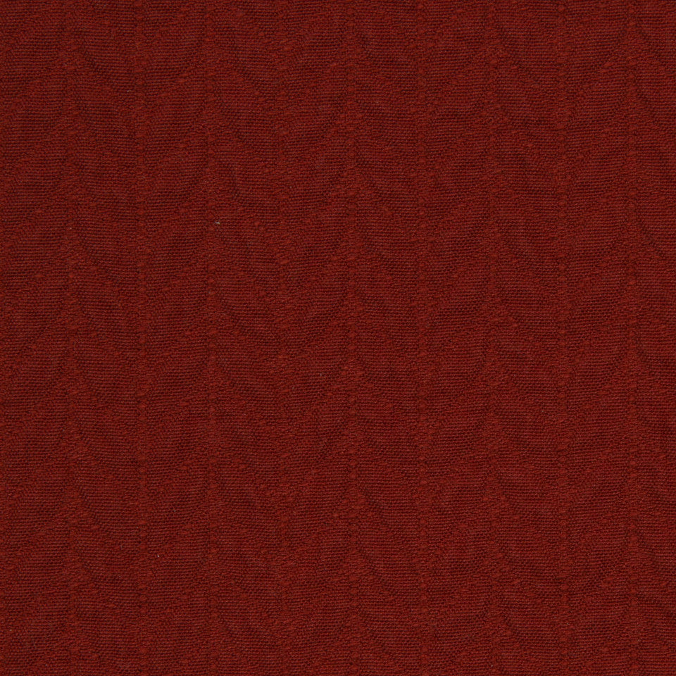 RED HOT Quilted Leaves Fabric - Red Hot