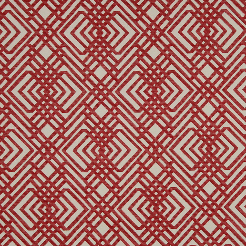RED HOT Lines Galore Fabric - Red Hot