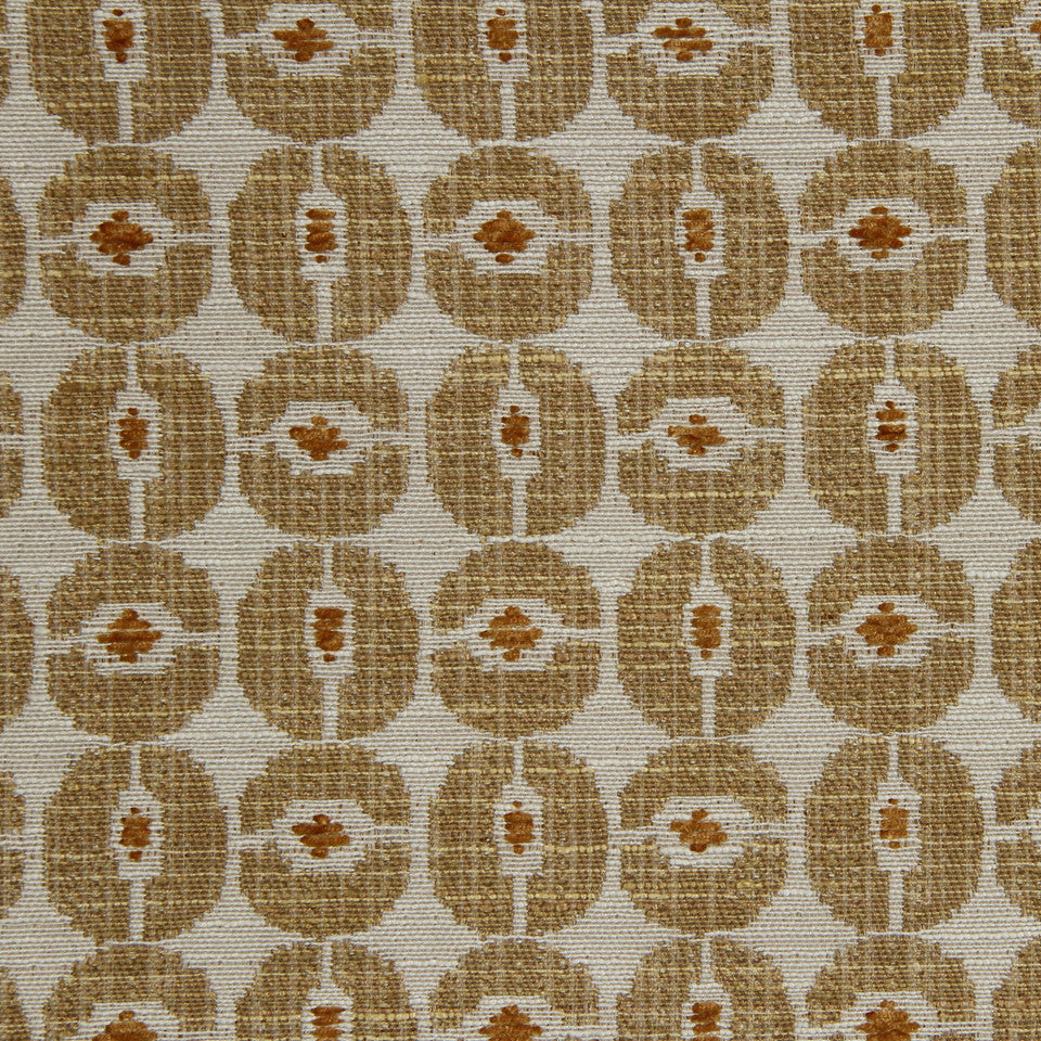 ZEST Wagon Wheels Fabric - Zest